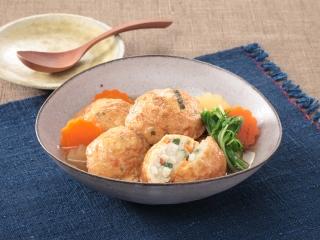 山芋ひろうすの含め煮